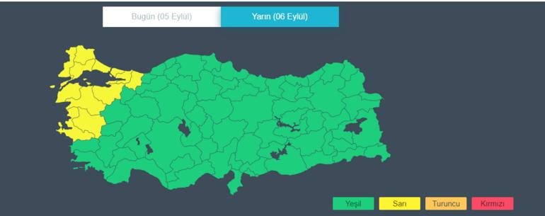 Son dakika Meteorolojiden İstanbul için sarı uyarı